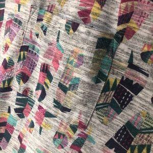 LuLaRoe Carley feather print.